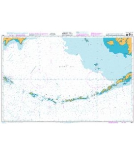 British Admiralty Nautical Chart 4813 Bering Sea Southern Part