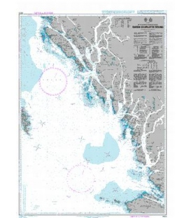 British Admiralty Nautical Chart 4923 Queen Charlotte Sound
