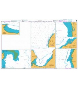 British Admiralty Australian Nautical Chart AUS 125 Plans in South Australia Gulf of St Vincent
