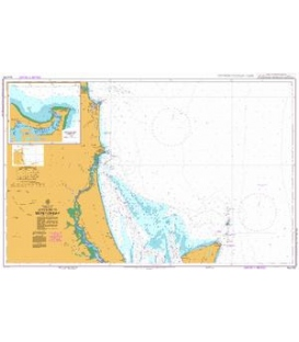 British Admiralty Australian Nautical Chart AUS235 Approaches to Moreton Bay