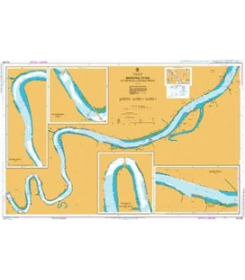 British Admiralty Australian Nautical Chart AUS238 Brisbane River - Lytton Reach to Victoria Bridge