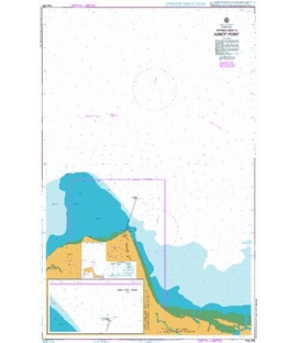 British Admiralty Australian Nautical Chart AUS255 Approaches to Abbot Point