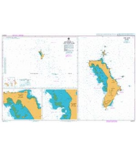British Admiralty Australian Nautical Chart AUS610 Approaches to Lord Howe Island