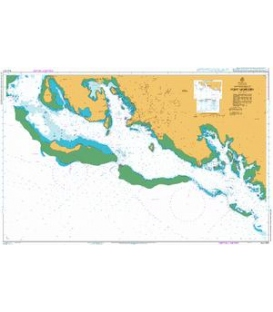 British Admiralty Australian Nautical Chart AUS621 Approaches to Port Moresby